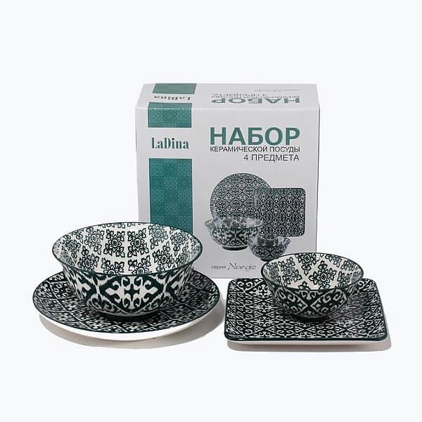 NARGIZ Набор посуды керам 4 предмета 31510/12