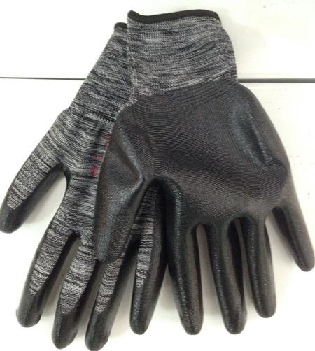 Перчатки нейлон №10 черный (черная нить) 10