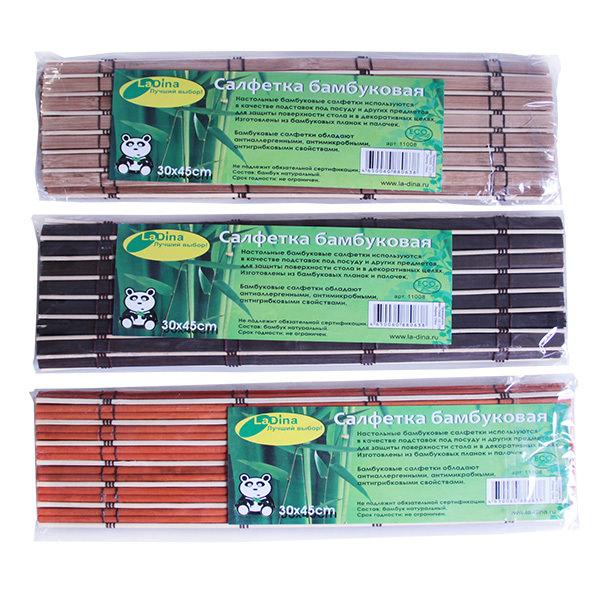 Подставка под горячее бамбук 30*45