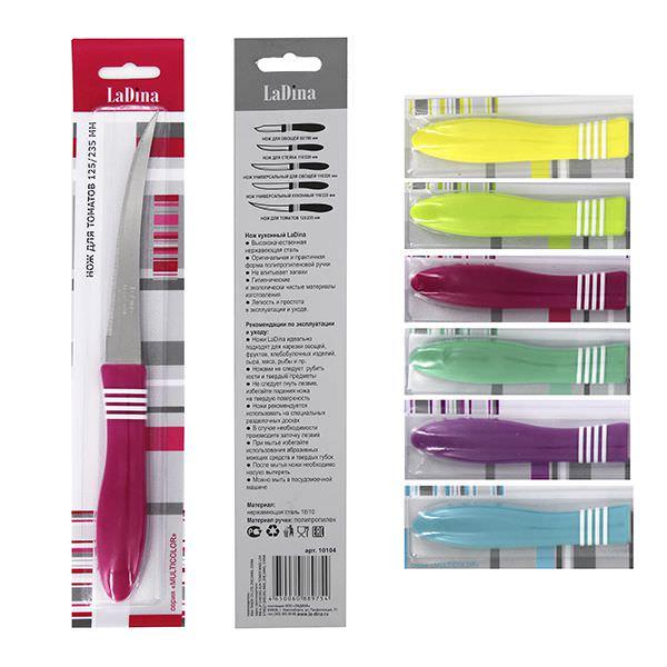 Нож кухонный MULTICOLOR для томатов 10104/600/300