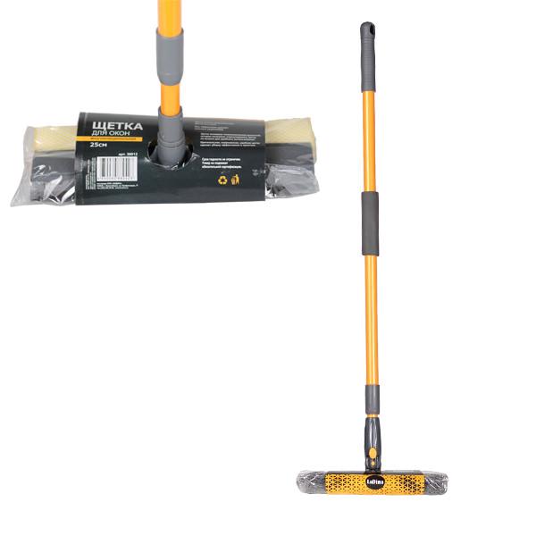 Щетка для мытья окон 30 см. (желт.+сер.), арт.30013/100