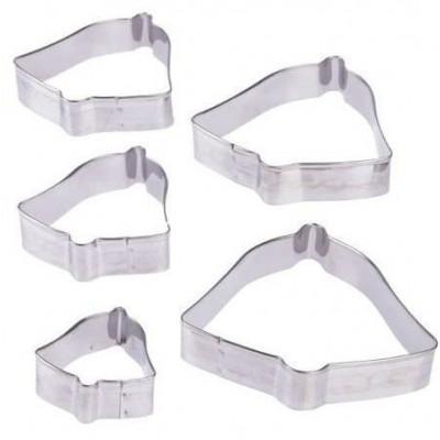 Набор форм металл для вырезания печенья 5шт/360
