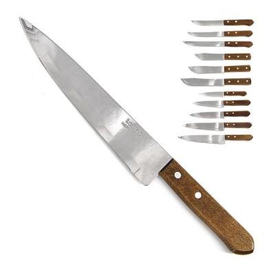 Нож кухонный LaDina с деревян.ручкой в инд.уп-ке L 30,5см