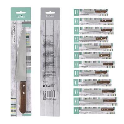 Нож кухонный LaDina с деревян.ручкой в инд.уп-ке L35,5см