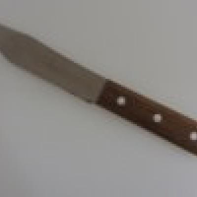 Нож кухонный с деревян.ручкой №22901