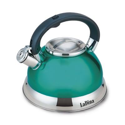 Чайник LaDina со свистком 3л. (нерж.сталь) 53003